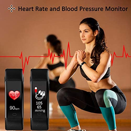 ANCwear Fitness Tracker Watch, F07 Activity Tracker Health Exercise Watch with Heart Rate Monitor Waterproof IP68 Smart Fitness Band with Sleep Monitor, Step counter Pedometer Watch for Men Women Kids 2