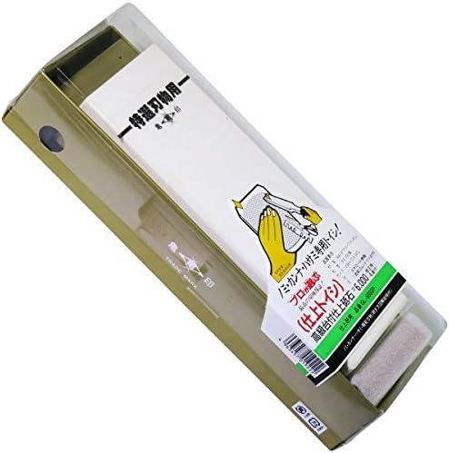 亀印 高級台付仕上砥石 #6000 修正名倉付 (仕上砥) 206x73x24mm GL-6000P