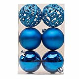 Christmas Tree Ball, Mitsutomi Xmas 6 Balls Wreath Door Wall Party Wedding Ornament Garland Decoration Baubles (Light Blue)