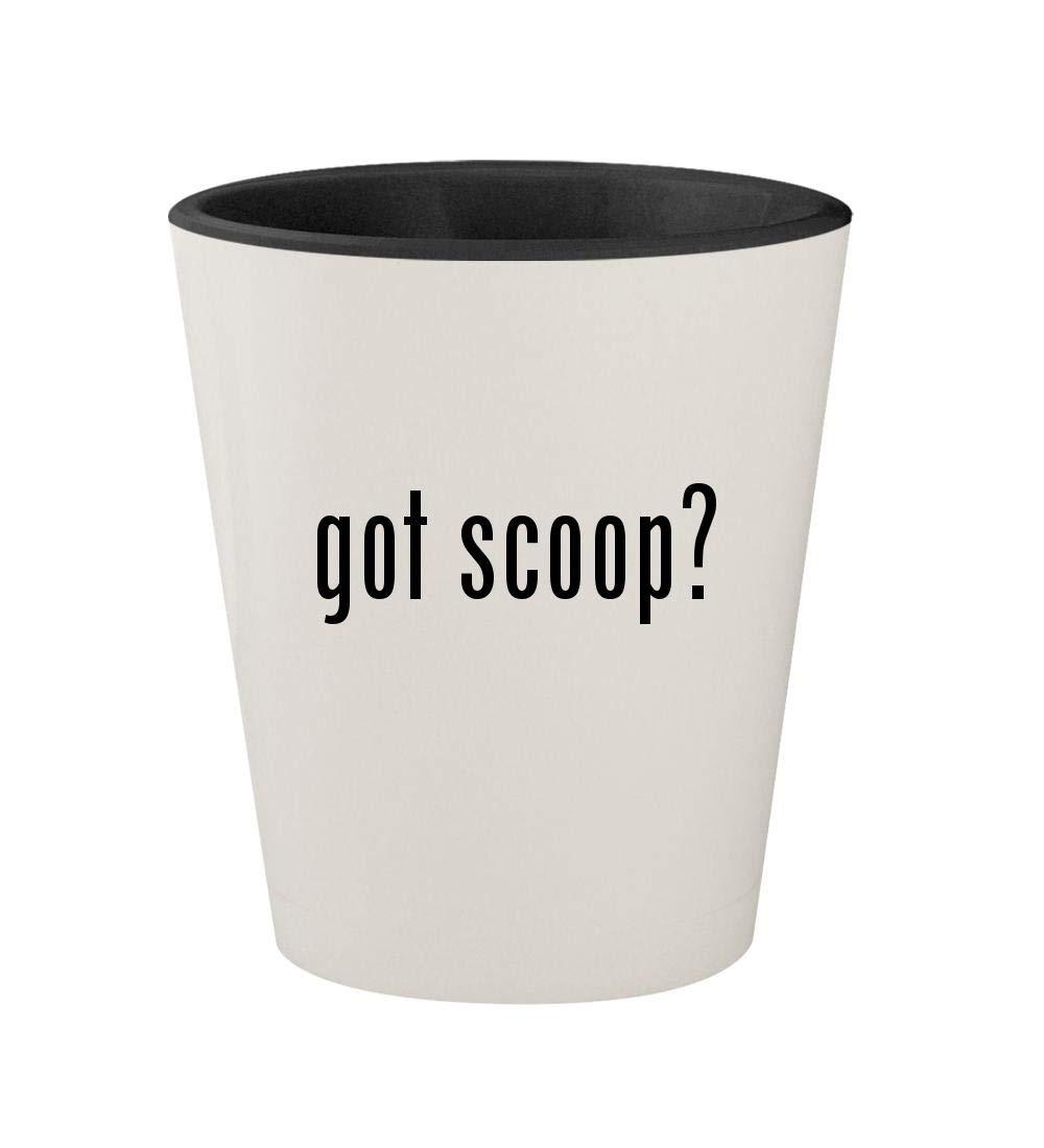 got scoop? - Ceramic White Outer & Black Inner 1.5oz Shot Glass