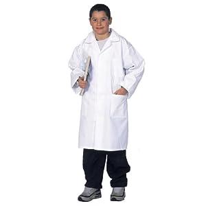 Blouse blanche enfant 10 12 14 et 16/17 ans, fille ou garcon, Cours de physique-Chimie, 100% coton