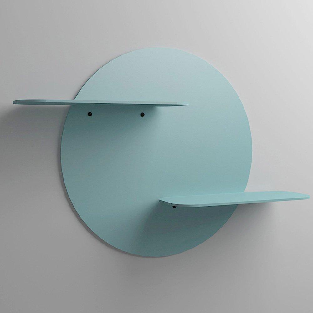 ZZHF ウォールシェルフアイアンウォールシェルフテレビのソファの背景壁掛け布団カラーオプションのオプションのオプション デスク ( 色 : 青 , サイズ さいず : 73*32cm ) B078XPMDH4 73*32cm|青 青 73*32cm