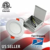 4''inch 9W Recessed LED Panel Lights (Super Thin) ETL Listed Warm White AC Dimmable
