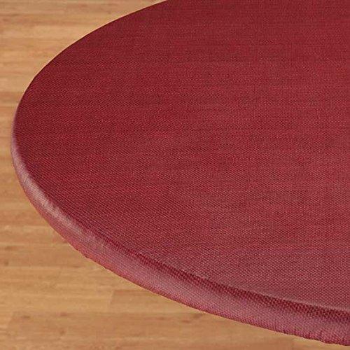 Basketweave Elastic Table Cover - Oblong in Burgundy