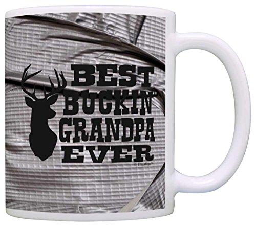 Father's Day Gift Best Buckin' Grandpa Ever Deer Hunter Gift Coffee Mug Tea Cup Simulated Duct Tape -