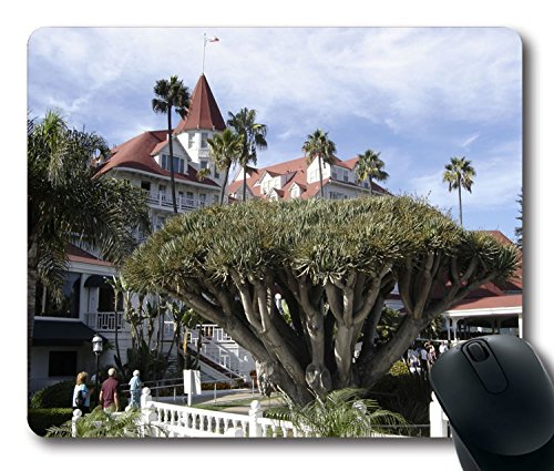Custom Unique Mouse Pad with Hotel Coronado Tree Building San Diego California (Coronado Slip)