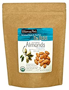 Wilderness Poets California Almonds - Organic & Raw - 2 lb (32 oz)