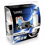 LUNEX HB3 9005 PLATINUM BLUE Headlight Halogen Bulbs 12V 65W P20d Max Blue Effect 4700K duobox (2 units)