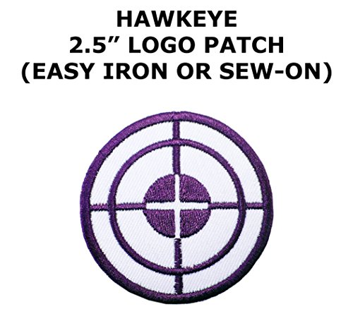 Hawkeye Superhero Superheroes Theme DC Marvel Comics Cartoon Movie Films Cosplay DIY Decorative Embroidered Iron or Sew-on Patch By US Family Brand