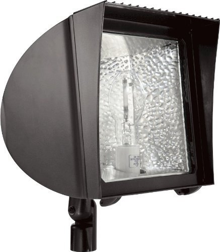 RAB Lighting FX100/PC Flexflood 100W Hps 120V Hpf With Arm + Lamp + Pc Bronze by Rab Lighting