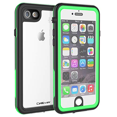 CellEver iPhone 6 / 6s Case Waterproof Shockproof IP68 Certified SandProof Snowproof Full Body Protective Clear Transparent Cover Fits Apple iPhone 6 and iPhone 6s (4.7) - KZ Lime Green