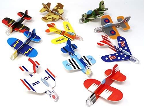 Mini Glider - 4E's Novelty Mega Assortment of 72 Mini Flying Glider Planes, Great Party Favors Toys for Kids, Holiday & Birthday Parties Supplies Goody Bag Filler