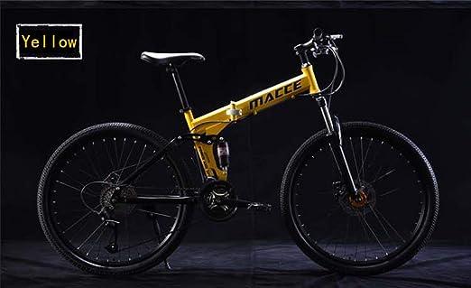 ALOUS Bicicleta de montaña/Bicicleta Plegable Paseo 24 Pulgadas ...