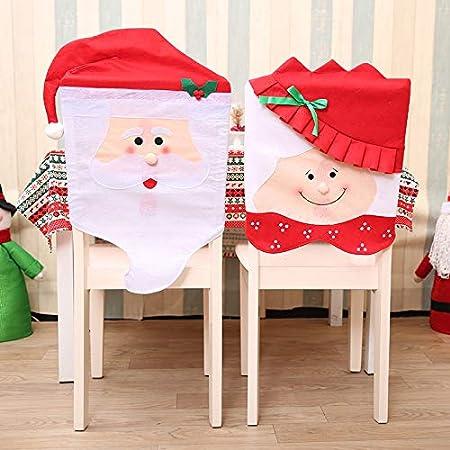 4 STÜCKE Weihnachtsmann Stuhlabdeckung Schneemann Stuhl Weihnachtsdekoration