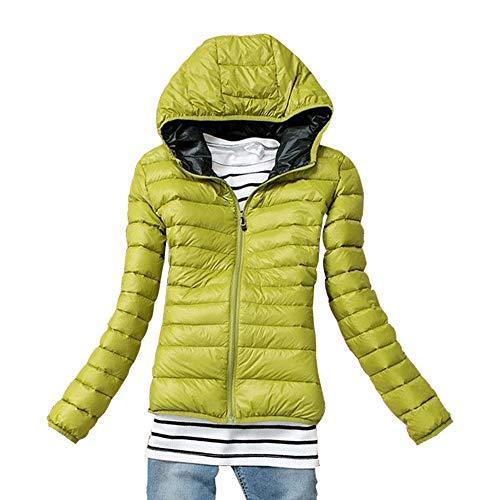 Trapuntato Ultraleggeri Donna Giacca Corto Verde Cappotto Giacche Kindoyo Cappuccio Piumino Con Inverno AfYwnxX7
