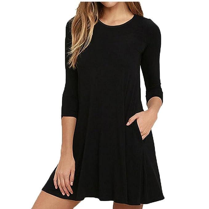 Vestido de mujeres,SHOBDW Mini de vestidos casual de la Camisetas de O-Cuello