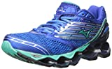 Mizuno Women's Wave Prophecy 5 Running Shoe, Diva Blue/Electric Green, 8.5 B US
