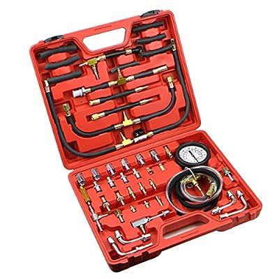 Universal Manometer Fuel Injection Pressure Tester Gauge Kit System 0-120 psi