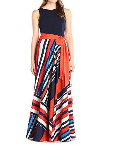 Womens Summer Long Maxi BOHO Evening Casual Party Beach Dress Plus Size Sundress (X-Large, Multi Orange)