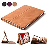 ipad 3 case vintage - iPad 4 3 2 Case, Boriyuan Genuine Leather Smart Cover Stand for Apple iPad 4 3 2 with Card Slot [Magnetic Sleep/ Wake]+Stylus+Screen Protector, Vintage Brown