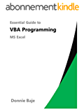 Essential Guide to VBA Programming for MS Excel (English Edition)