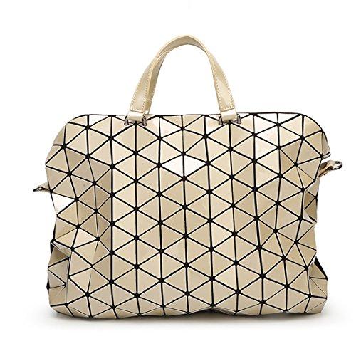Bolsos del saco del laser del bolso de la perla de las mujeres Bolso de hombro acolchado de la geometría del totalizador del hombro Bolsos plegables femeninos Small Black Large Gold