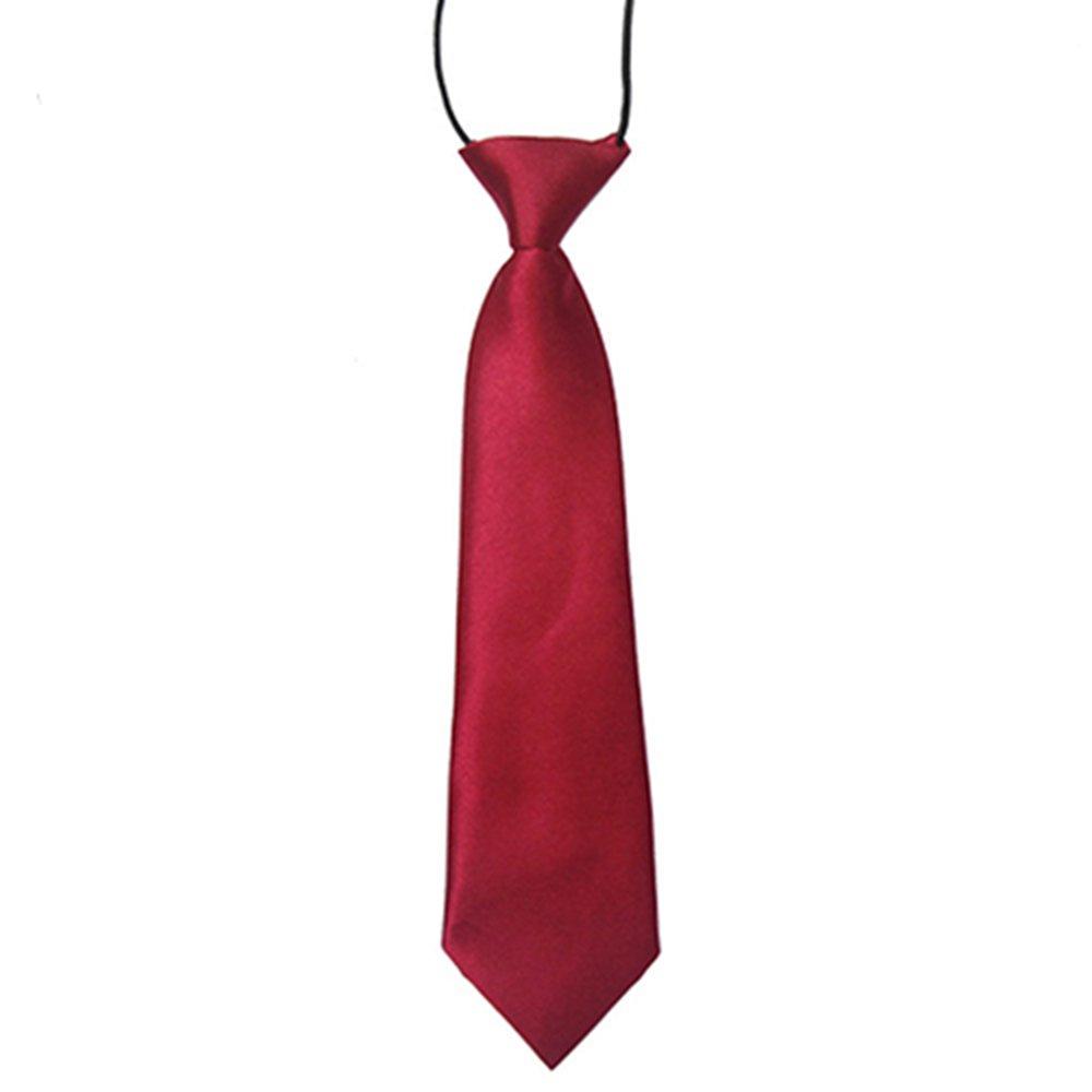 Color sólido niños Kids niños elástico Corbata Necktie marrón ...