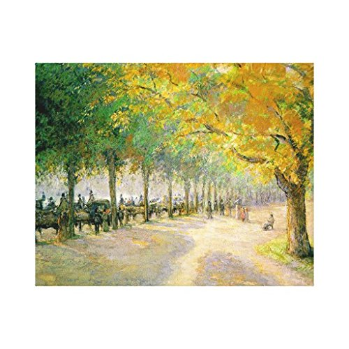Pissarros Hyde Park Canvas Print Wall Art For Home Decoration Wooden Framed 16