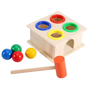 martillo caja de juguete para nios educacin aprendizaje temprano el juego de pelota de madera