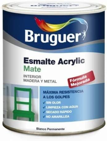 Bruguer 5069889 - Esmalte acrílico mate Acrylic BLANCO PERMANENTE