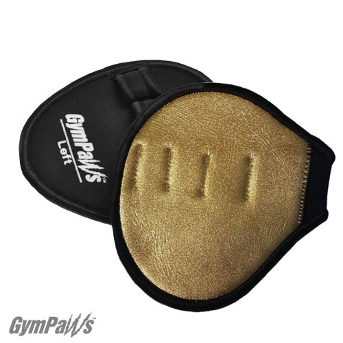 GymPaws Gold Metallic Gym Gloves - Leather Weightlifting Grips