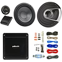 2x Polk Audio MM1 MM6502 Series 375W Ultra-Marine Certified 6.5 Component Speaker System, PA330 330W 2 Channel Car Amplifier, Enrock Audio 16-Gauge 50 Foot Speaker Wire