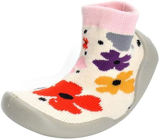 Voberry Cartoon Baby Boys Girls Anti-slip Boots Slippers Shoes Non-Skid Slipper Socks