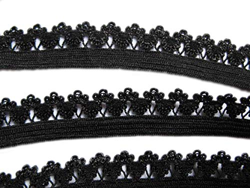 YYCRAFT 15 Yards Frilly Edge Stretch 1/2