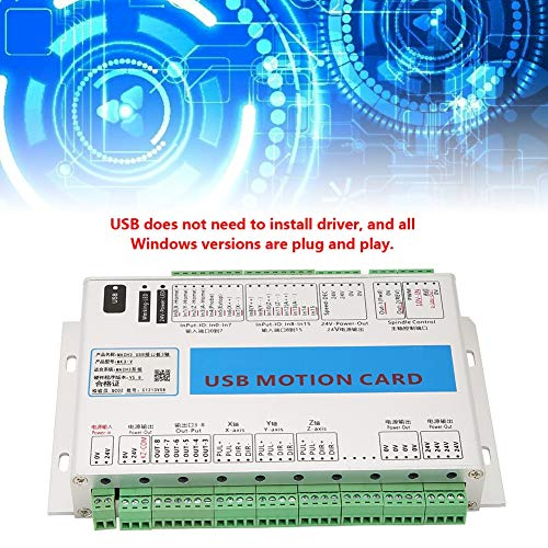 ZJchao Mach3 Motion Card, Aluminum Case Shielding Interference Stable and Reliable 3 Axis Mach3 Breakout Board CNC USB Motion Control Card 2000KHz by ZJchao (Image #3)