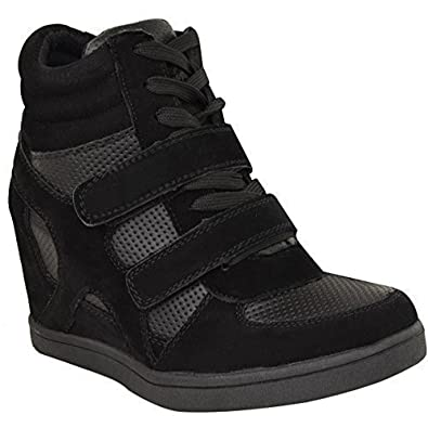 6f95c49169d4 NEW WOMEN LADIES HI TOP WEDGE TRAINERS SNEAKERS PUMPS SPORT ANKLE BOOTS SIZE
