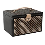 WOLF 301502 Chloe Large Jewelry Box, Black