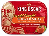 Cheap King Oscar Wild Caught Sardines Zesty Tomato, 3.75-Ounce (Pack of 12)