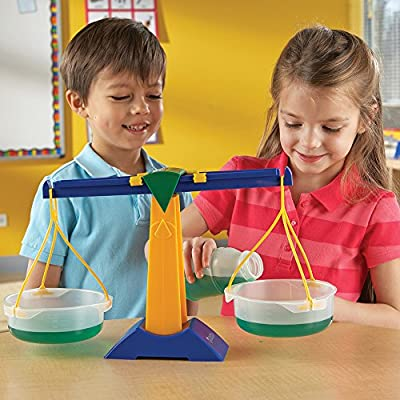 Learning Resources Pan Balance Jr, Science Class Experiments, Measurement Tool, Ages 3+: Office Products