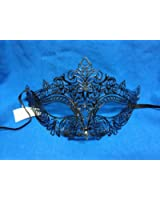 Beautiful Black Crown Laser Cut Metal Venetian Masquerade Mask