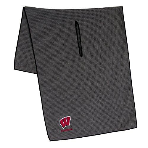 Team Effort Wisconsin Badgers Grey Microfiber Towel