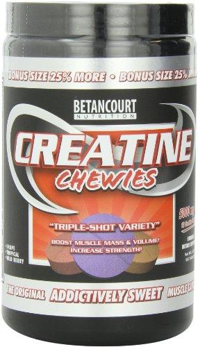 Betancourt Nutrition Créatine Chewies, Triple-Shot variétés, 5000mg, 160 comprimés