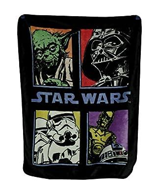 "Star Wars ""Pop Saga"" Classic Plush Raschel Throw Blanket"