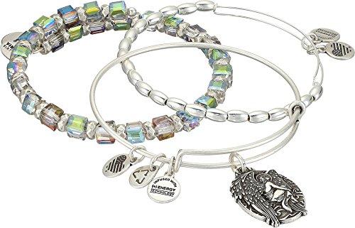 Alex and Ani Women's Guardian of Answers Bracelet Set of 3 Silver Bracelet