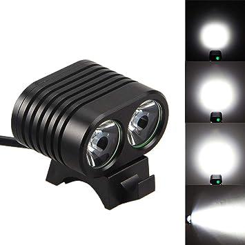 OHQ Linterna Luz De Bicicleta 8000Lumen 2X XM-L2 LED Ciclismo ...