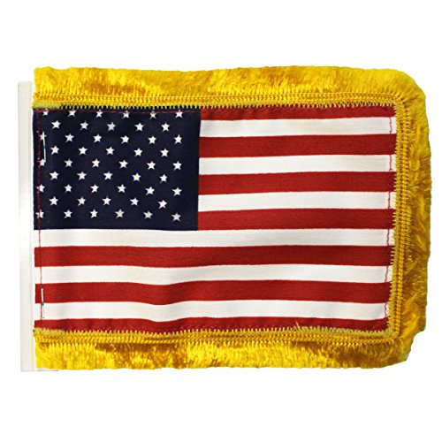 US Antenna Fringed Flags (4 in. x 6 in.)