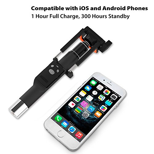 fugetek selfie stick high end pocket size with removable bluetooth remote. Black Bedroom Furniture Sets. Home Design Ideas