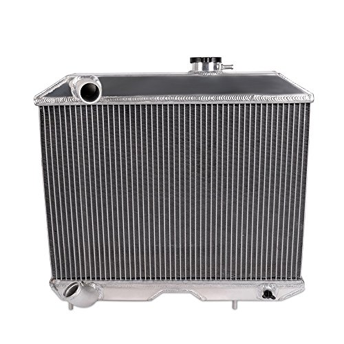 (Full Aluminum Racing Radiator For 1941-1952 JEEP WILLYS M38 CJ-2A MB/Ford GPW D5 2Row Core )