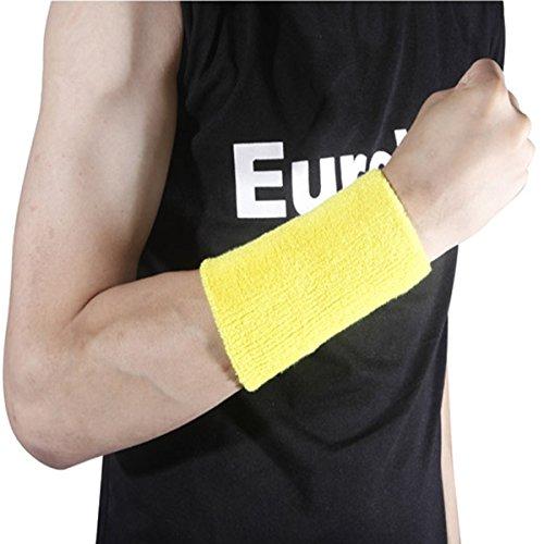 13.5*7cm Sports Fitness Wrist Sweatband Hand Wrap Wristband (Random Color)