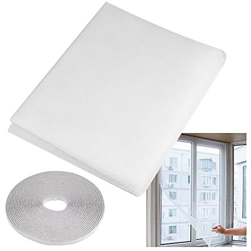 150x130cm Insect Fly Mosquito Bug Window Mesh Screen White - 1
